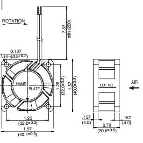 1608KL-05W-B69 | NMB | Осевой вентилятор DC размером 40мм