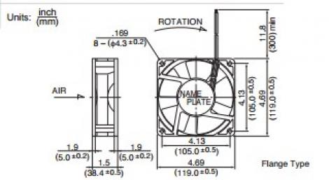 4715SL-05W-B60 | NMB | Вентилятор
