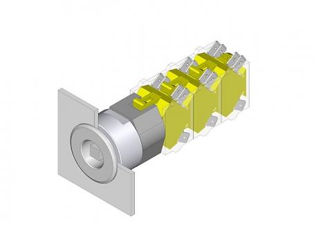 704.095.0T28 Вставка ключевого переключателя 22.5 - 30.5 mm  EAO