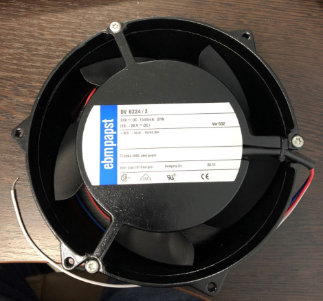 DV6224/2 | Ebm-Papst Вентиляторы постоянного тока DC Tubeaxial Fan, 172x51mm