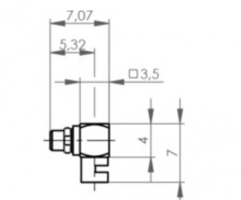 J01340B0161   Telegartner   MMCX угловой штекер