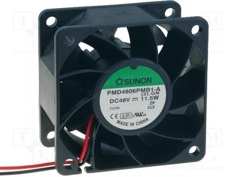 PMD4806PMB1-A (2).GN.IP55 DC Вентилятор 60X38MM 48VDC