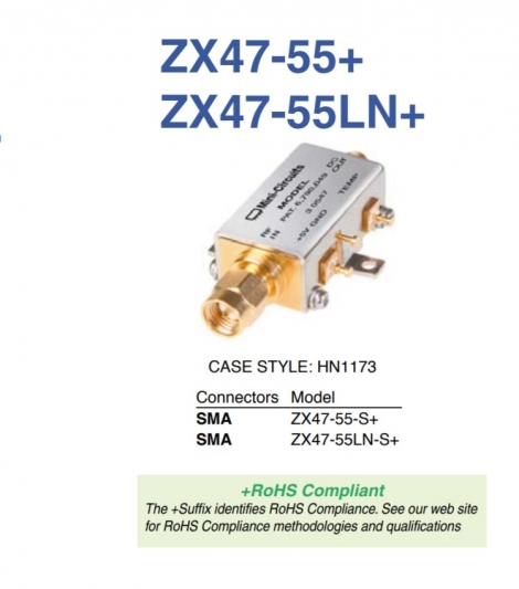 ZX47-55LN-S+ Детектор
