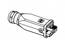 09451151720 Han3A RJ45 Hybrid GL Cat6A plug 8+4p met