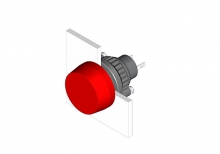 14-030.002 Кнопка индикатор 22.5 - 30.5 mm  EAO