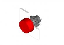 14-030.005 Кнопка индикатор 22.5 - 30.5 mm  EAO