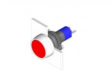 14-040.002 Кнопка индикатор 22.5 - 30.5 mm  EAO