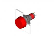 14-741.006 Кнопка индикатор 22.5 - 30.5 mm  EAO