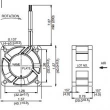 1608KL-05W-B69 | NMB Осевой вентилятор DC размером 40мм