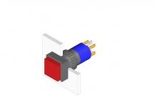 31-281.022 Кнопка с подсветкой 16 mm  EAO