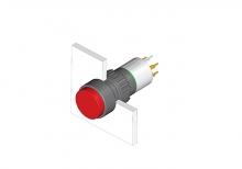 31-433.036 Кнопка с подсветкой 16 mm  EAO