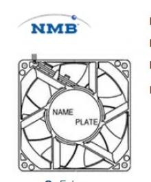 3615RL-05W-B40 | NMB | Осевой вентилятор DC размером 92мм