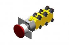 704.070.0 Нажимная кнопка-гриб 22.5 - 30.5 mm  EAO