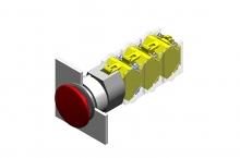 704.071.418 Нажимная кнопка-гриб 22.5 - 30.5 mm  EAO
