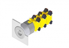 704.099.0x28 Вставка ключевого переключателя 22.5 - 30.5 mm  EAO
