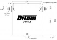 D3I0102N | DiTom Microwave | Изолятор одного соединения