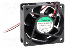 EE60201B3-000U-999 DC Вентилятор 60X20MM 12VDC