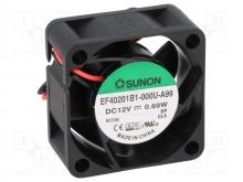 EF40201B3-000U-A99 DC Вентилятор 40X20MM 12VDC