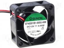 EF40201BX-000U-A99 DC Вентилятор  40X20MM 12VDC