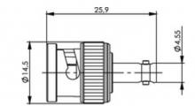 J01008A0091 | Telegartner | BNC в мини HD-BNC
