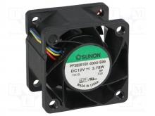 PF38281B1-000U-G99 DC Вентилятор 38X28MM 12VDC