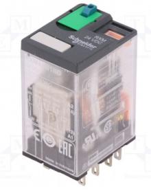 RXM4AB1BD | Schneider Electric | РЕЛЕ 4 CO 24В ПОСТ ТОКА RXM4AB1BD (арт. RXM4AB1BD)